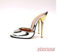 Women Open Toe Stiletto High Heels Slippers Shoes Cross Dresser Mules Sandals Sz