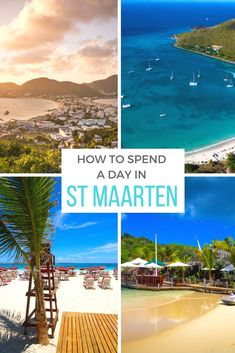 The island of St Maarten (or St Martin depending which side you're on) is home to one of the world's craziest airport runways, boasts fantastic beaches and is a mecca for shoppers. Here are the best things to do in St Maarten in just one day. #StMartin | #StMaarten | #Travel | #Beach | #Cruise | #Caribbean