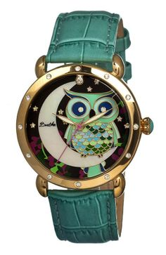 Teal & Gold Owl Watch ♥