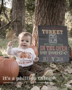 Fall Announcement || Thanksgiving birth announcement! Too cute, loved doing this session.