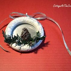 Holiday ornaments made from shower curtain rings. I'm impressed. Hometalk :: Easy DIY Christmas Tree Ornaments :: Deb @ Nomadic Decorator's clipboard on Hometalk