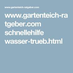 www.gartenteich-ratgeber.com schnellehilfe wasser-trueb.html