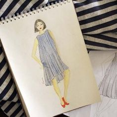 Design Maternity Dress Pattern - DIY Sketch to Pattern Maternity Dress Pattern, Maternity Dresses, Dress Sketches, Fashion Sketches, Burda Patterns, Sewing Patterns, Fashion Sketch Template, Model Body, Drawing Clothes