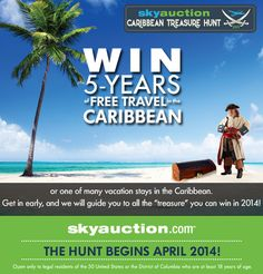 Enter to win WIN 5-Years of Travel to the Caribbean! http://prmo.me/aRH2j0