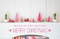 playful and modern Christmas decor Xmas