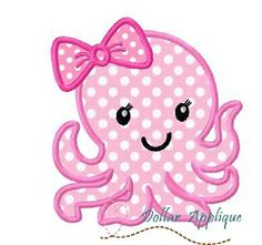 Girl Octopus Applique - 3 Sizes! | What's New | Machine Embroidery Designs | SWAKembroidery.com Dollar Applique