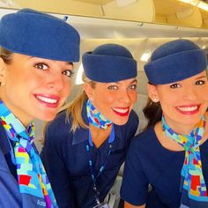 Azul Airlines Crewfie Photo taken by @thayanecr on Instagram, pinned via the InstaPin iOS App! http://www.instapinapp.com (03/28/2015)