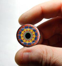 Glass Eyes - Kaleidoscope Eye Human Doll Taxidermy Eyes Handmade Glass Cabochons Design 3 - Pair or Single - You Choose Size (1.20 USD) by Nixcreations