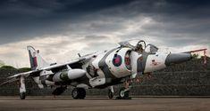""" Arctic Aggressor "" - Hawker Siddeley Harrier , at RAF Cosford. Military Jets, Military Aircraft, Fighter Aircraft, Fighter Jets, War Jet, Close Air Support, Aircraft Design, Royal Air Force, Modern Warfare"