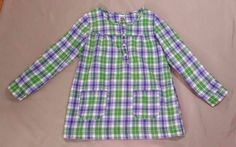 Carter's Green Lavender Plaid Shirt Size 5 #Carters #Everyday