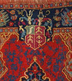 (1) Ushak carpet with coat of arms of Krzysztof Wiesiołowski by Anonymous from Poland or Turkey, ca. 1635, Museum of Islamic Art in Berlin, (2) Czartoryski carpet with emblem of the Myszkowski family of the Jastrzębiec coat of arms by Anonymous from Iran, mid-17th century, Metropolitan Museum of Art. Possibly commissioned by Franciszek Myszkowski, castellan of Belz and marshal of Crown Tribunal in 1668 (identification of the emblem by Marcin Latka). #persiancarpet #artinpl #polishcarpets Berlin, Car Polish, Saint George, St Michael, Casket, Poland, Lithuania, Armenia, Persian Carpet