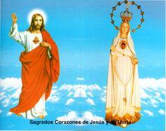 Benditos, alabados, amados  y reverenciados sean los Sagrados Corazones de Jesús y de María, ahora y siempre y por los siglos de los siglos.