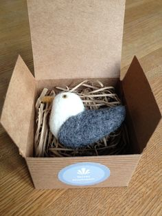 Needle felted seagull brooch Handmade by Velvet by Velvetmushroom