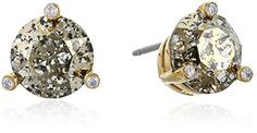 kate spade new york Small Studs Gold-Tone Patina Stud Earrings. Items that are handmade may vary in size, shape and color. Made in China. CZ, swarovski stone, gold plated metal. Imported.
