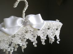 ON SALE Bridal Satin Padded Hanger . Victorian Style Hand Made. Bridal Hangers, Wedding Dress Hanger, Wedding Hangers, Wedding Dresses, Arte Shabby Chic, Padded Hangers, Most Beautiful Dresses, Rose Lace, Bridal Lace