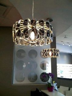 Really neat light fixture at my optometrist's office. London, Ontario, Canada.
