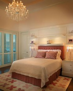 Suzie: B + G Design - Gorgeous girl's bedroom design with soft pink walls paint color, pink ...