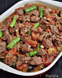 Eggplant Dishes, Baked Eggplant, Eggplant Recipes, Lunch Recipes, Meat Recipes, Vegetarian Recipes, Cooking Recipes, Cafe Recipes, Turkish Recipes