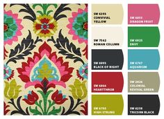 Find a rug you love and create a paint color palette to match.