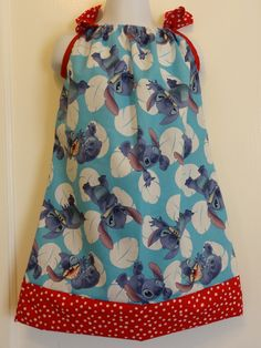 Many Faces of Stitch (Lilo & Stitch) Pillow Case Dress Made To Order Size 12-18, 18-24 month, and 2 to 8, Lilo, Stitch, Disney Fashion by DesignsByGranGran on Etsy