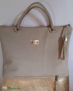 Bőrtáska arany és beige női táska hátizsák super divatos egyedi dartab de8262792f