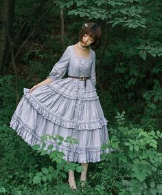 Jewelry in Sunrise -Jenny and Mentha Tea- Classic Lolita OP Dress