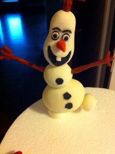 """Personaggio """"Frozen"""" realizzato da Silly Anna."""