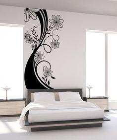 Vinyl Wall Decal Sticker Flower Stalk #1108 | Stickerbrand wall art decals, wall graphics and wall murals.