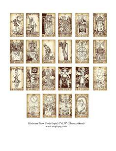 Printable miniature tarot