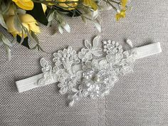 Bridal Lace Garter Ivory lace garter In case you need other size please include your thigh measurement at checkout to ensure a perfect fit. Shıppıng All products are shipped by express cargo. Do not forget to leave your phone number before you leave. If you have any