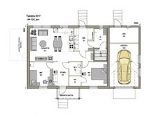 84-12-K-AT - Jukkatalo Floor Plans, Diagram, Floor Plan Drawing, House Floor Plans