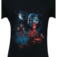 This 'Star Wars: The Last Jedi' t-shirt pays homage to the movie poster for 'Star Wars Episode IV: A New Hope,' complete with looming armored jerk-face. Star Wars Episode Iv, Star Wars Merchandise, A New Hope, Last Jedi, For Stars, Awakening, Geek Stuff, T Shirt, Character