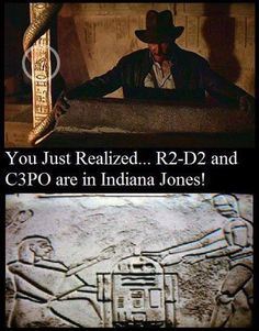 Okay, cool, but how are you supposed to see that anyway, if you were watching the movie? The pole with hieroglyphics on it is so small!