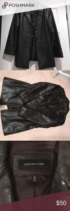 Spotted while shopping on Poshmark: Jones New York Leather Jacket! #poshmark #fashion #shopping #style #Jones New York #Jackets & Blazers