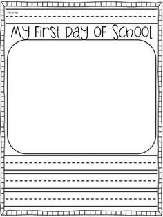 First week of school packet. K - 2nd graders. Love the beginning/end of the year comparisons. Great parent gift for the end of the year too!