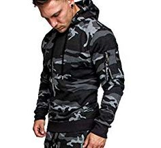 Buy 2019 Men's Fashion Hoodies Suits Camouflage Clothing Popular Style Jacket Outdoor Tracksuit Sportswear at Wish - Shopping Made Fun Camouflage, Pullover, Sweatshirt, Wish Shopping, Motorcycle Jacket, Sportswear, Winter Jackets, Mens Fashion, Suits