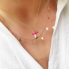 Stylish Jewelry, Jewelry Accessories, Pastel Blue, Pink, Warm Autumn, Cute Necklace, Fall Weather, Gold Plated Necklace, Layering