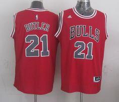 NBA Jerseys Chicago Bulls #21 butler red Jerseys