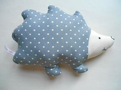 Baby Shower Gift Hedgehog Pillow in Grey by HandmadeByEvaRose