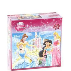 $7.99 - From Cinderella to Belle to sleeping beauty, this puzzle is FANTASTIC and FUN!• Puzzle scene features Belle, Cinderella, Sleeping Beauty, and Jasmine outside of the castle, Belle by herself or Ariel & Jasmine.• Puzzle scene has a lenticular or holographic effect. • Said another way, they are 3-D.• Completed puzzle is 12 x 9r• Contains: 48 piecesrASSORTED RECEIVE 1 PRINCESS PUZZLELike puzzles? See ?em all here!