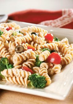 Easy Pasta Salad — How easy is this pasta salad? Three steps. 20 minutes (including pasta cook time.) That easy!