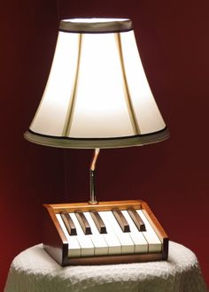 Table lamp from repurposed antique organ keys #vintage, #repurposed