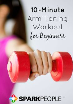 10-Minute Arm Toning Workout Video | via @SparkPeople #fitness #exercise #dumbbells #beginner