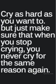 Sometimes you just need a good cry!