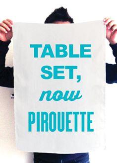 Table Set now Pirouette  Tea Towel   Australian Ballet $29.99