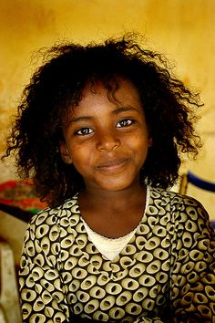 Girl from Eritrea with beautiful smile