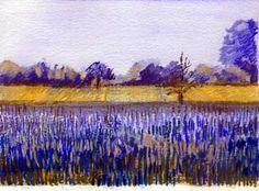 Art Lessons Oil Pastels   Oil+pastels+landscape