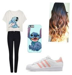 """#Lalala #i'mBored"" by tira-bianca on Polyvore featuring Giorgio Armani and adidas Originals"
