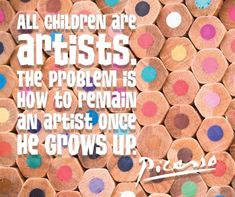 Thought of the day! Trending Art, Artists For Kids, Arts Ed, Thought Of The Day, Art Education, Picasso, New Art, Motivational, Art Gallery