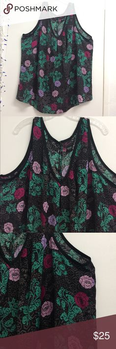 """Torrid Tank Top Size 4X Great condition! The back has a button detailing also making slits/see through(see photo)                                                                       Pit to pit 28"""" Length(shoulder to bottom hem) 30"""" torrid Tops Blouses"""